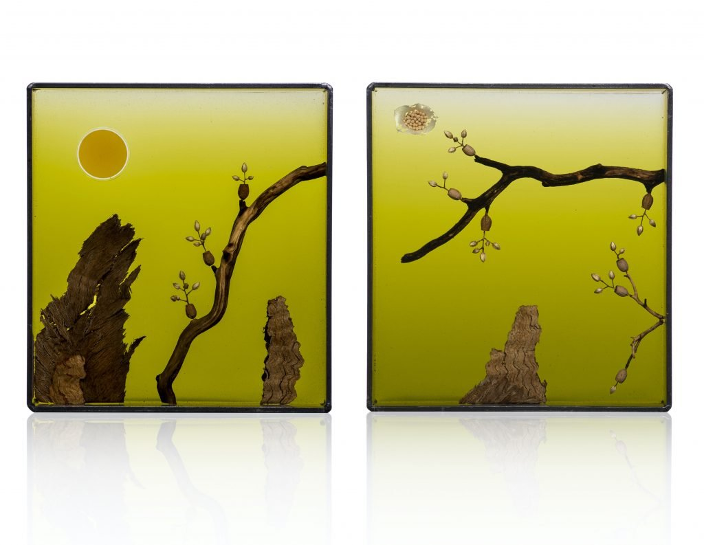 Andrea Haffner, Untitled Standing Diptych
