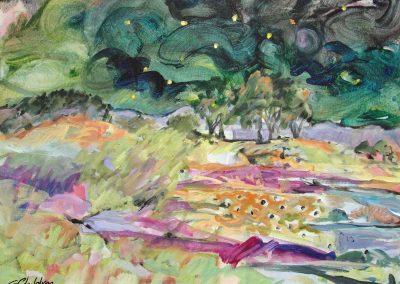 Gayel Childress_EDGE OF NIGHT acrylic on canvas 30x24_2017