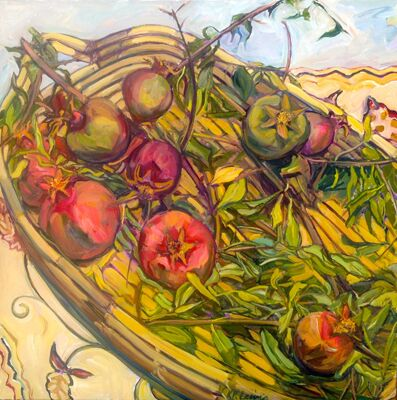 Karen Lewis Pomegranates and Crewel