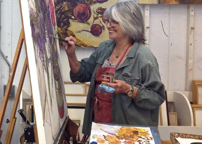 Karen in studio painting_2017