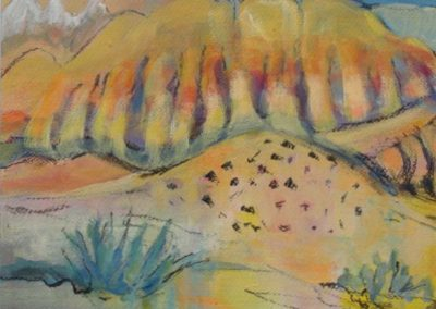 OWEN'S VALLEY acrylic - charcoal 20x16 small file Gayel Childress (2)