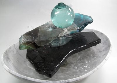 Slag Glass Wedge and Japanese Float Fountain 2017