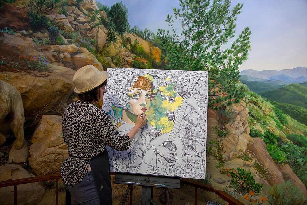 Amy's Painting Demonstration at the Museum~mv2