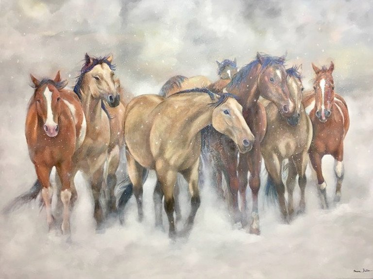 The Herd so happy getting Jury of Your Peers award for this painting!