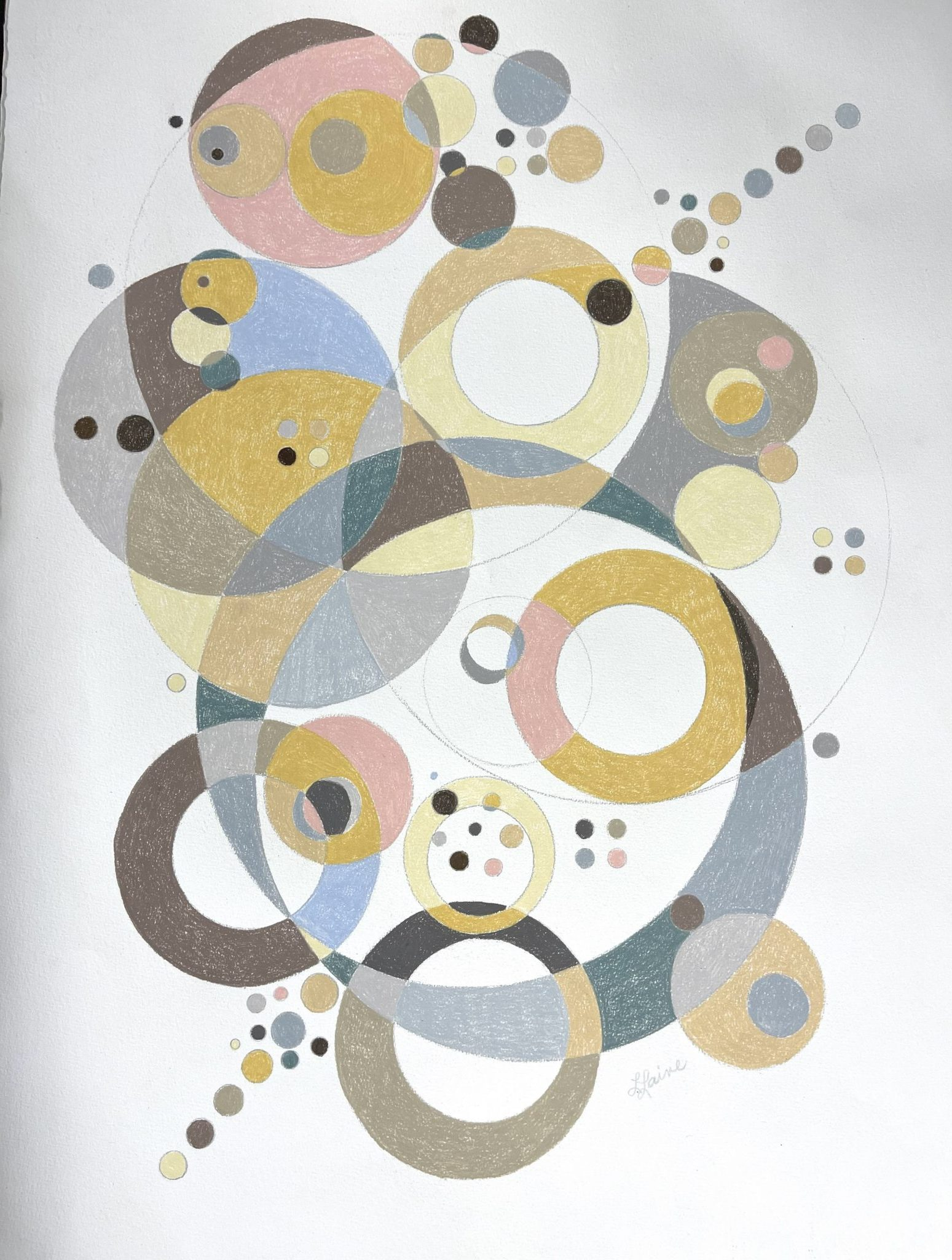 Leslie Laine untitled Prismacolor pencil on Cold Pressed Paper