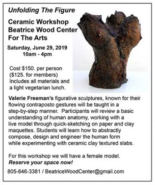 Valerie Freeman Sculpture Workshop at Beatrice Wood Center for the Arts