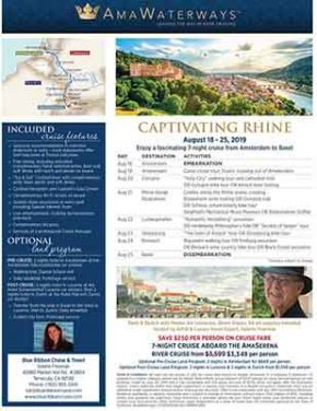 Summer Rhine River Cruise for Artists & Collectors!