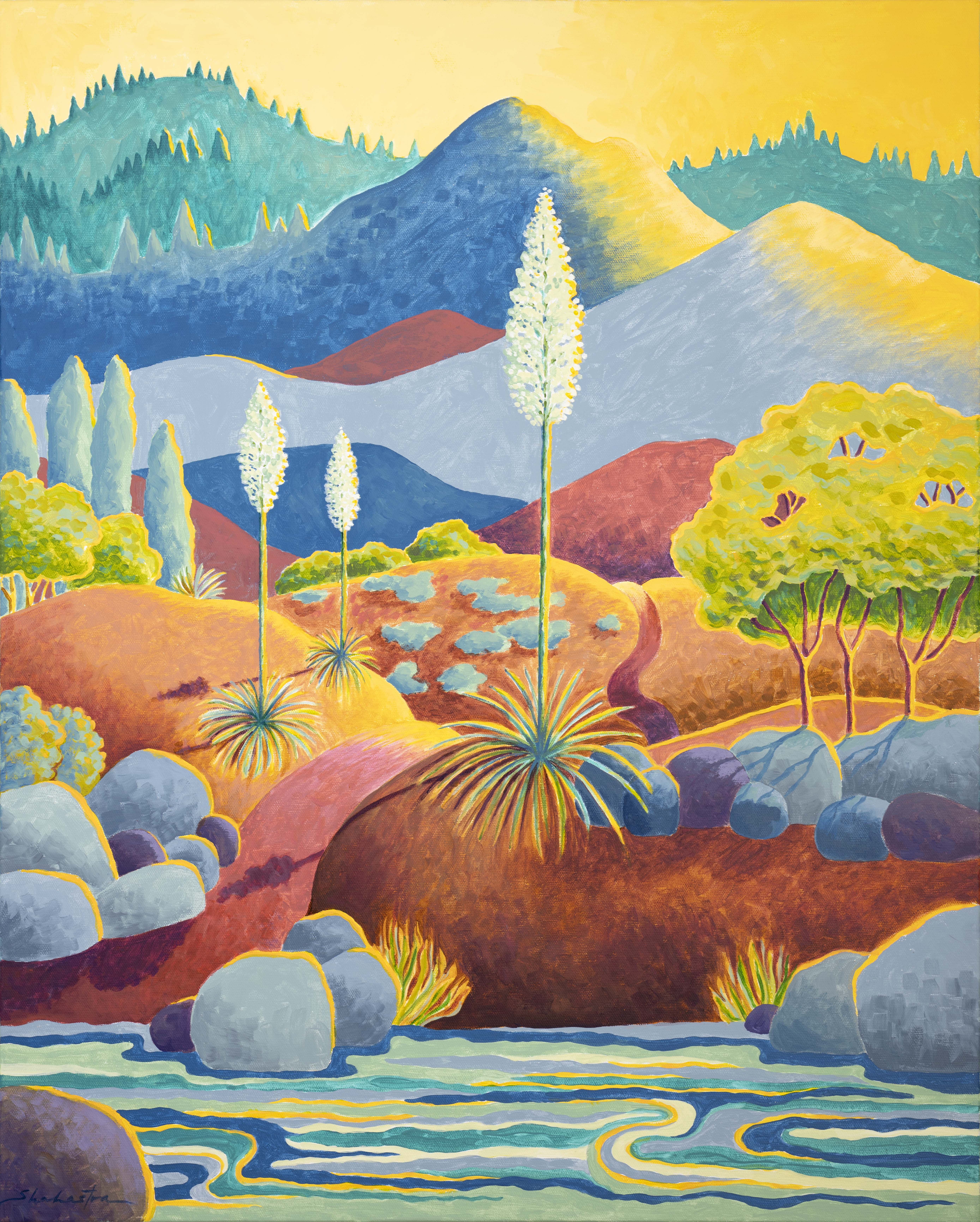Shahastra Levy_Canyon Yuccas_Acrylic_30x24LR