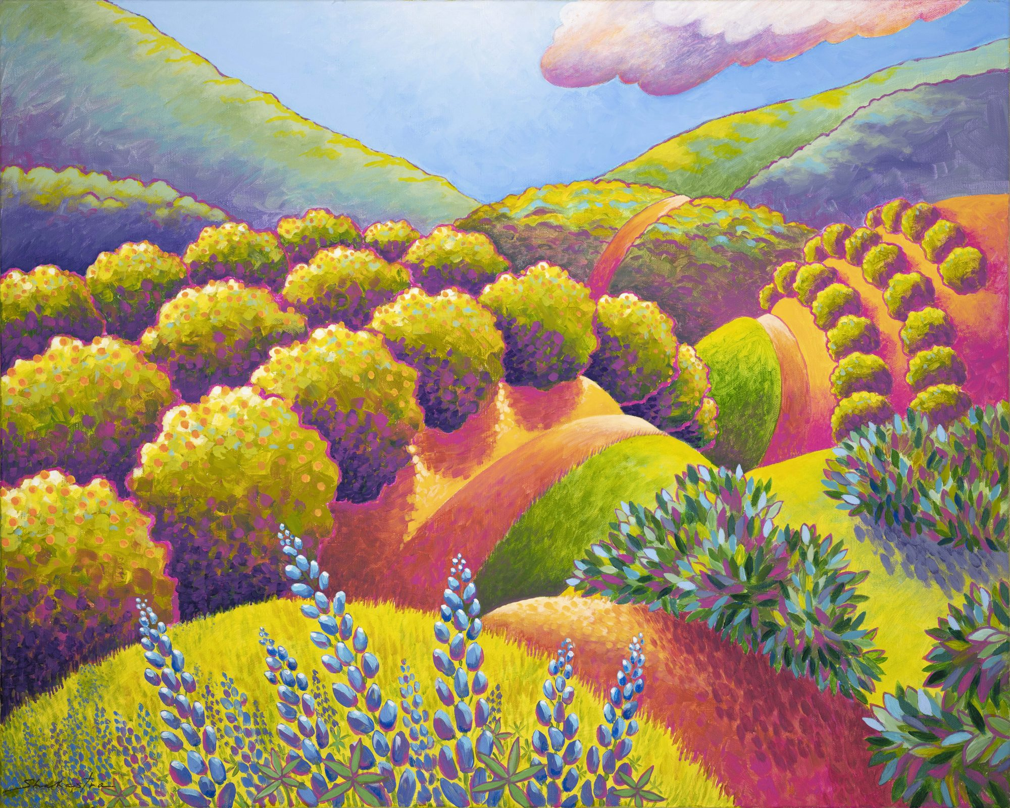 Shahastra Levy_Lupine Spring_Acrylic_24x30LR
