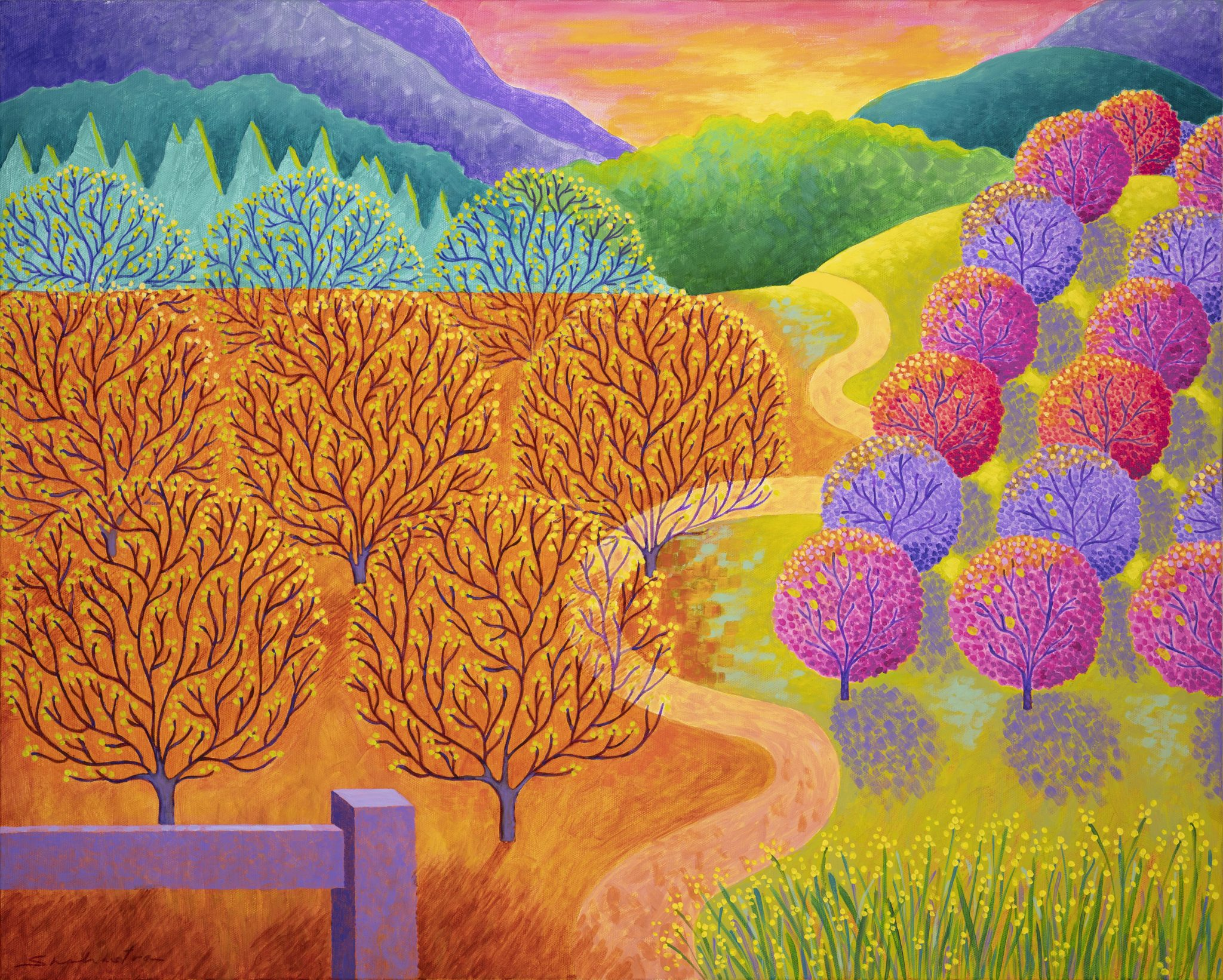 Shahastra Levy_Spring Walnuts and Fruit Trees_Acrylic_24x30LR