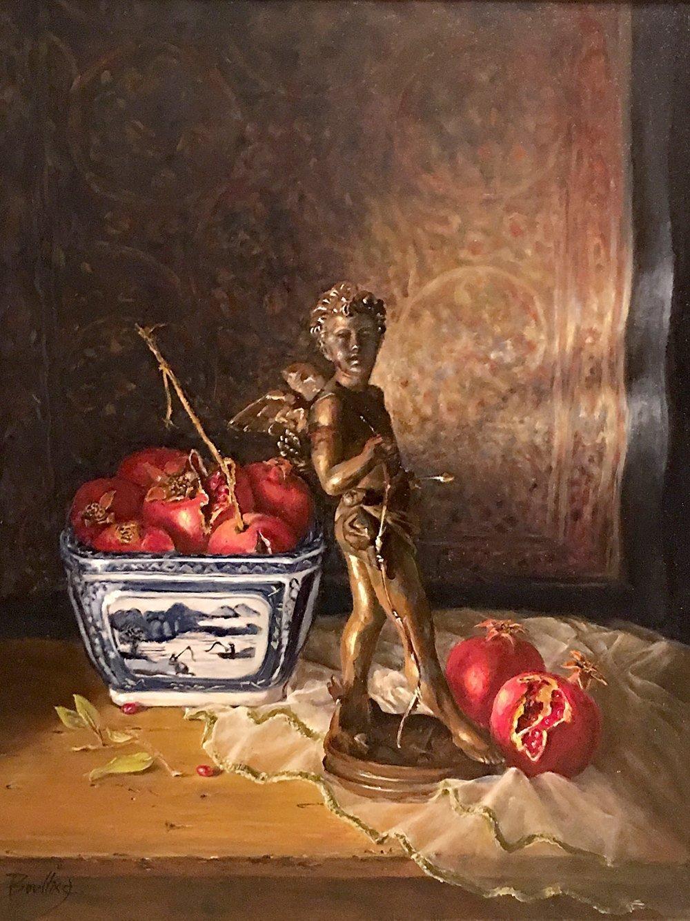 Painting_Cherub Ingrid Boulting