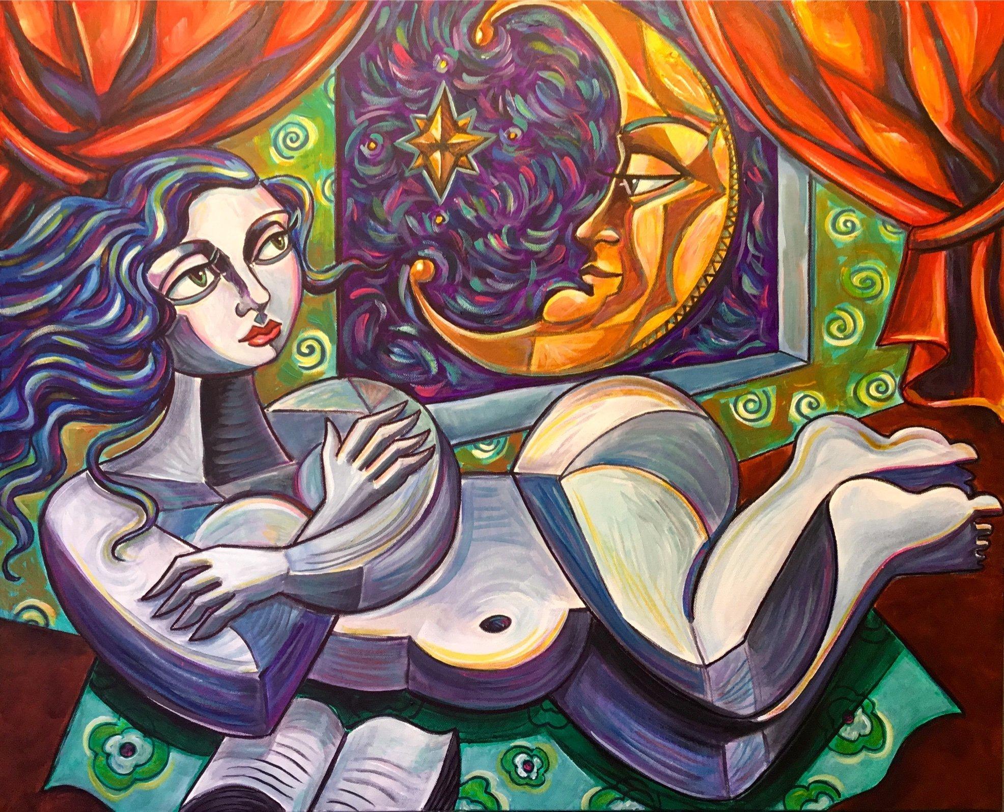Cubist Nude Amy Lynn Stevenson