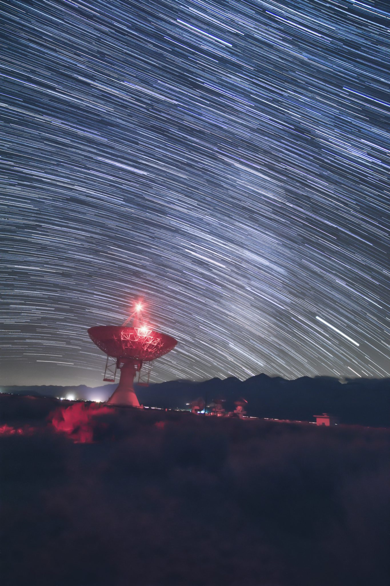 Thomson-Lindsay_Star Trails Over Radio Tower-Photo 12x18