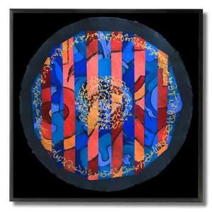 Carlos-Grasso-Circle-of-Understanding,Acrylic on Indian Khali Paper