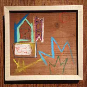 Devin-Oatway_Down-Home, Gouache Acrylic on Redwood