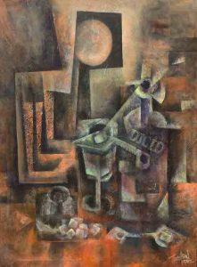 Douglas-Tharalson_Absinthe-Drinker, Acrylic on Canvas