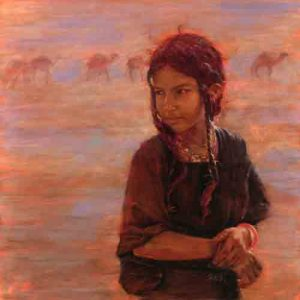 Leslie Clark_Sahara Girl, oil on panel
