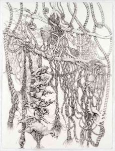 Jeff Mann_Flotsam-and-Jetsam, Graphite Drawing on D'Arches 140# HP H20 Paper