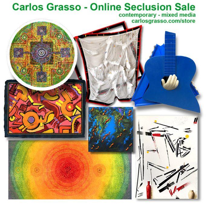 """Carlos Grasso – """"Seclusion Artwork Sale"""""""