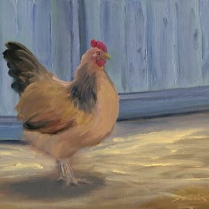 Bruce-Grabin_Hen-and-her-Coop