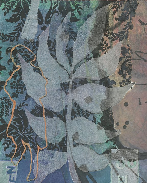 Linda Taylor Absence monotype with chine colle