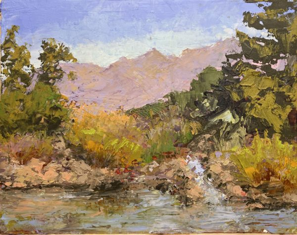 Christine Beirne 8x10 oil with cold wax medium, plein air