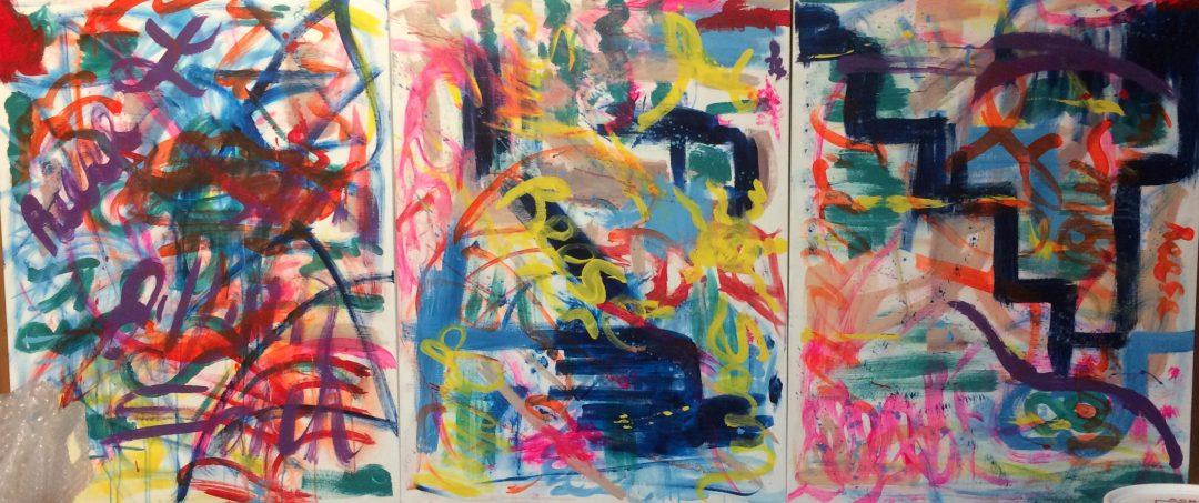 Gayel Childress New Work in progress from Start to Finish