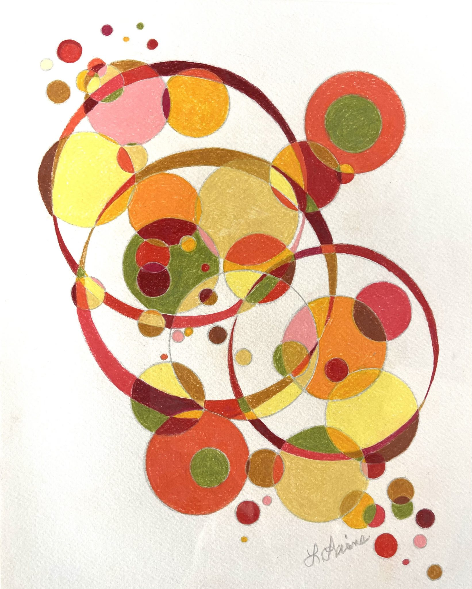 "Leslie Laine ""Untitled"" Prismacolor pencil on Cold Pressed Paper"