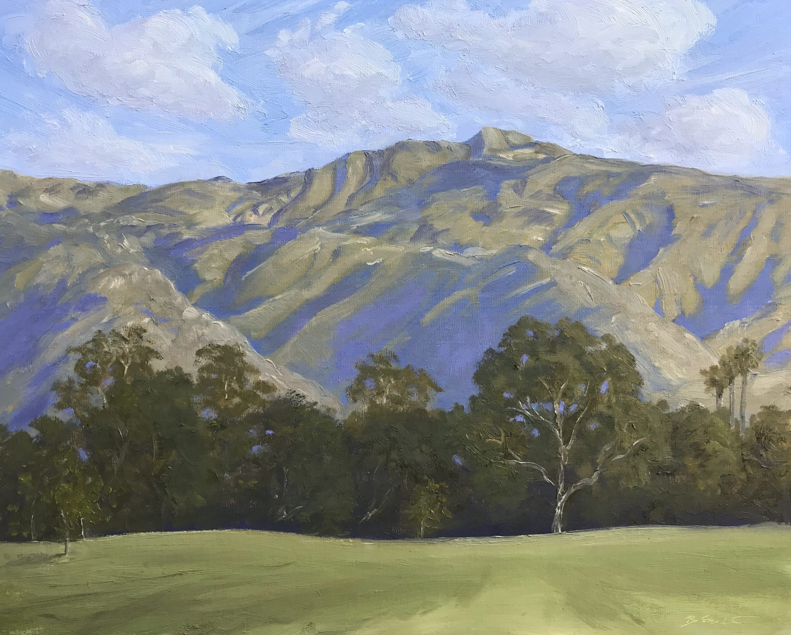 Grabin-Bruce_Chief's Peak from Soule Park Golf Course-Oil-16x20