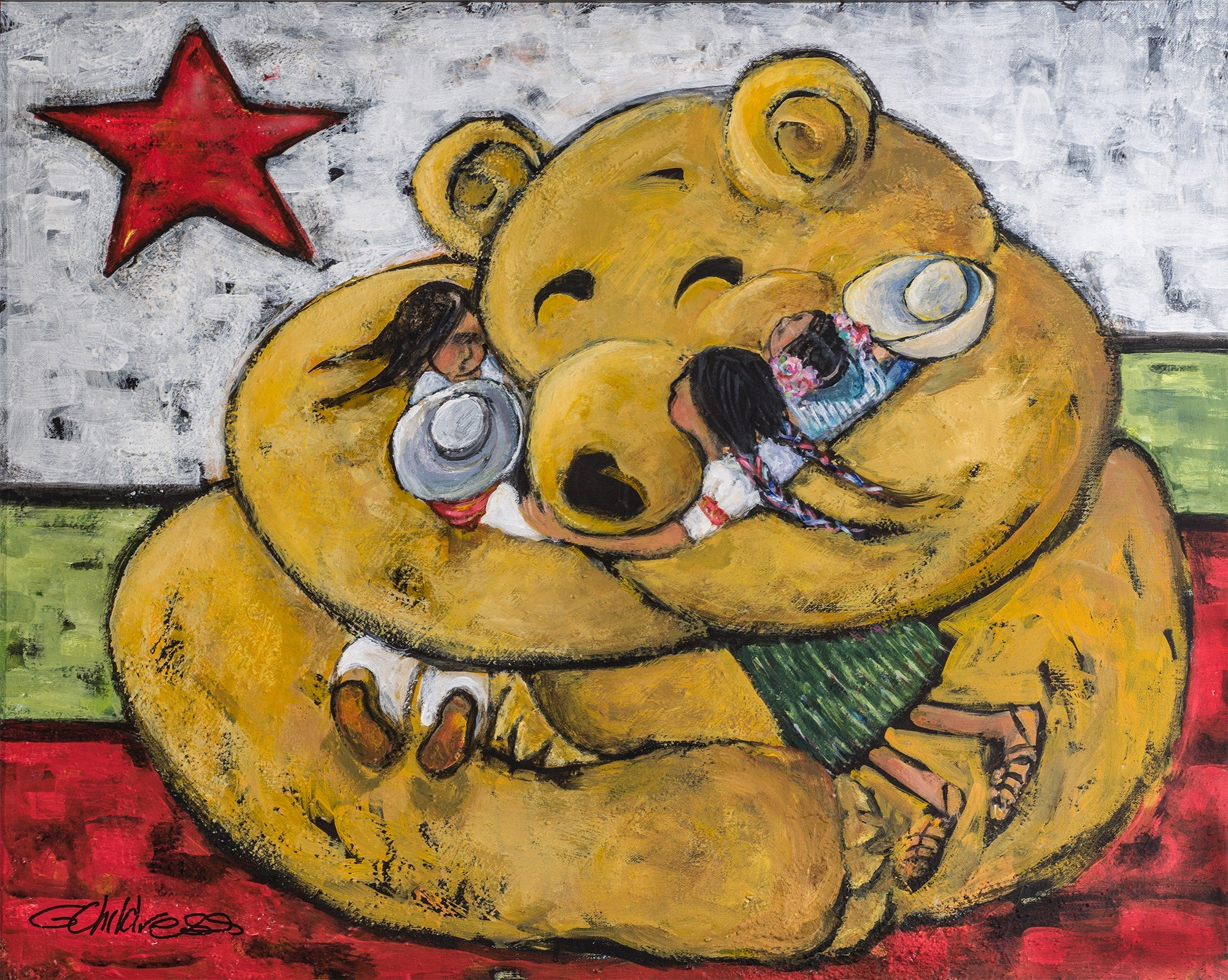 Gayel Childress California Hugs from My Favorite Things Series, acrylic