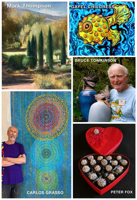 5 Ojai Artists at The Art Center (4 of them OSA artists)