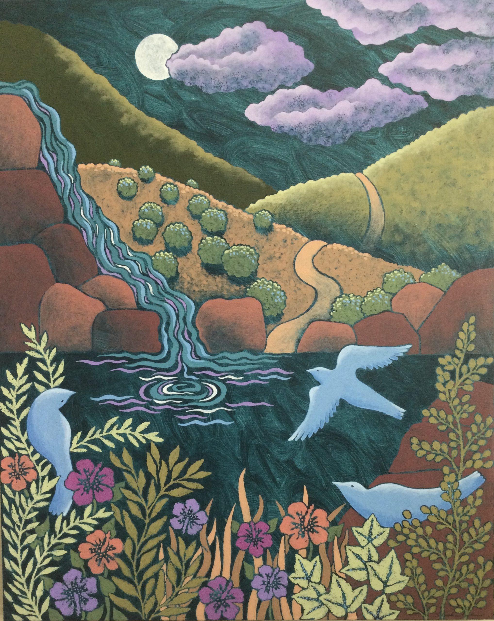 Shahastra Levi LOVE POEMS: Inspiration acrylic on canvas
