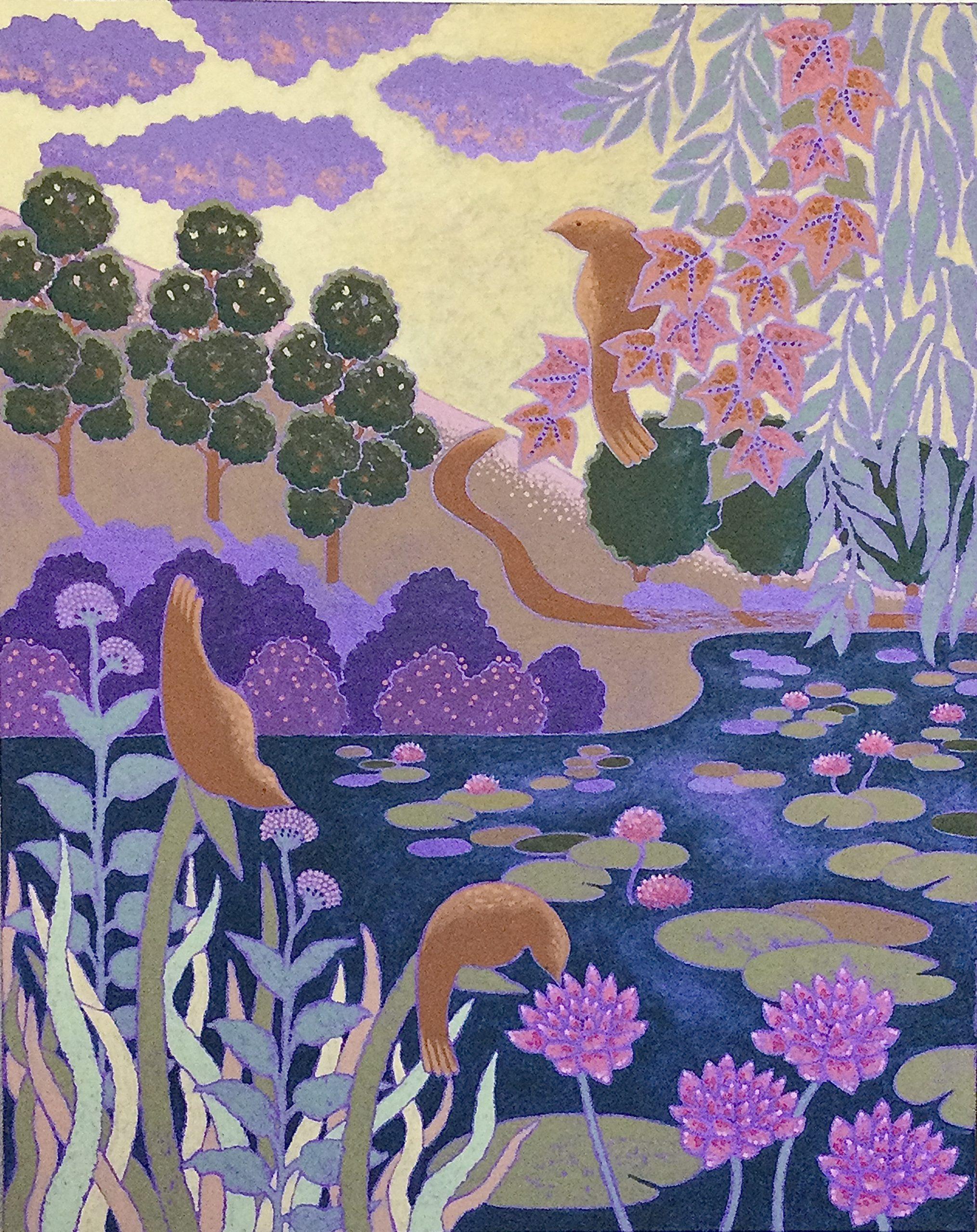 Shahastra Levi LOVE POEMS:Serenity acrylic on canvas