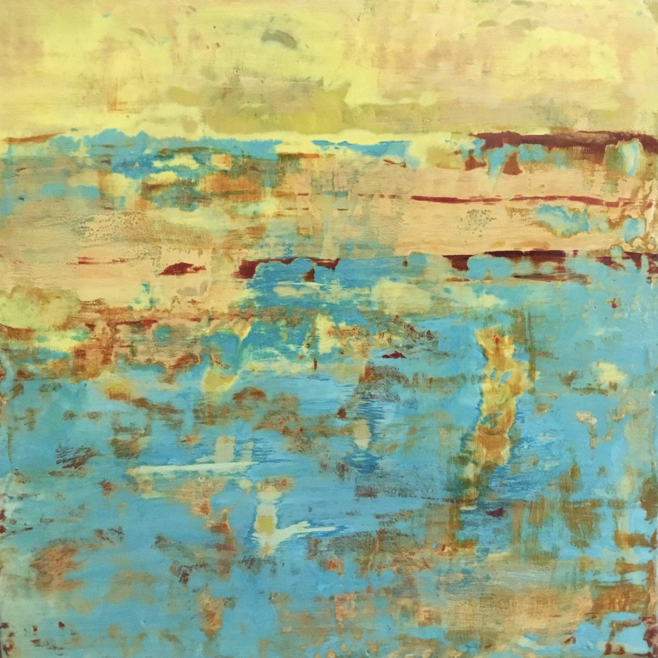 Patrish Kuebler encaustic, Study in Yellow