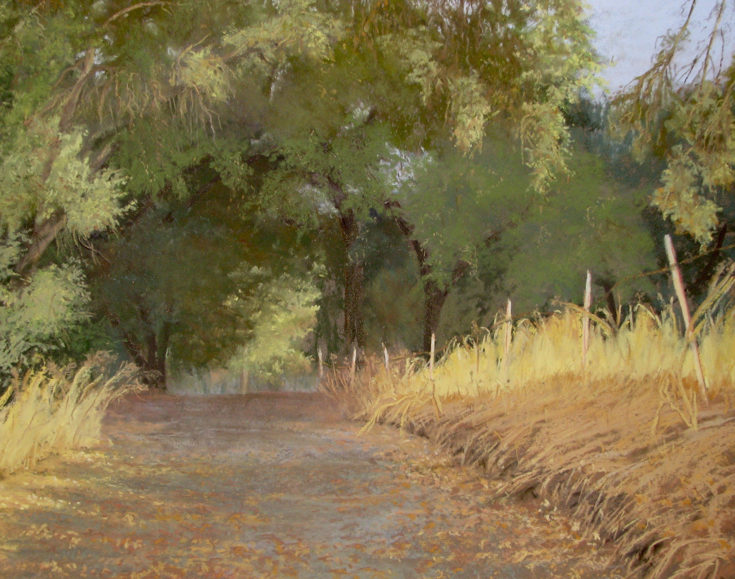Welcoming Path pastel 16 x 20 Patrish Kuebler