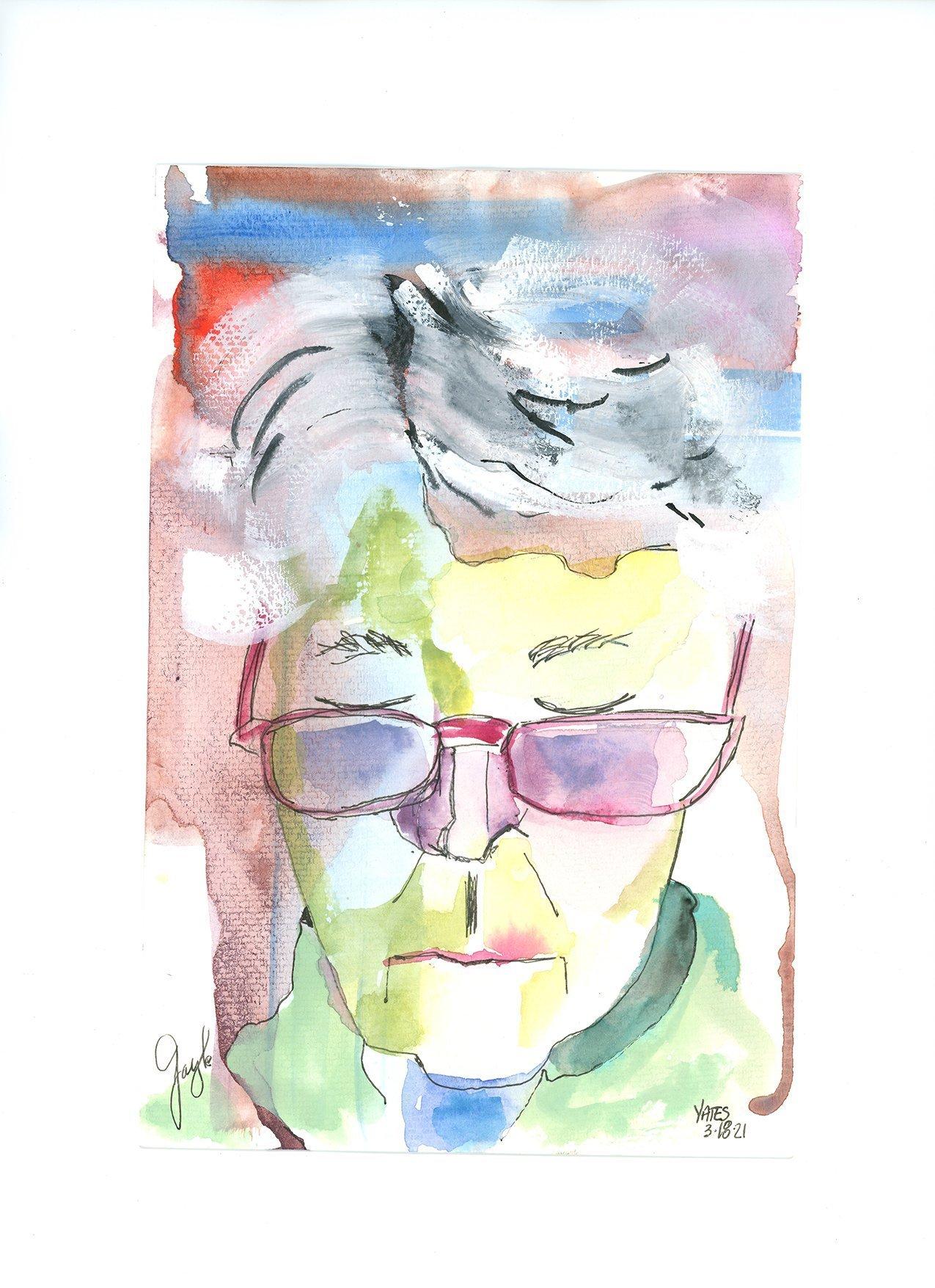 "Lucinda Yates Zoom Portrait Series ""Gayel"", WC6x9_Paper"