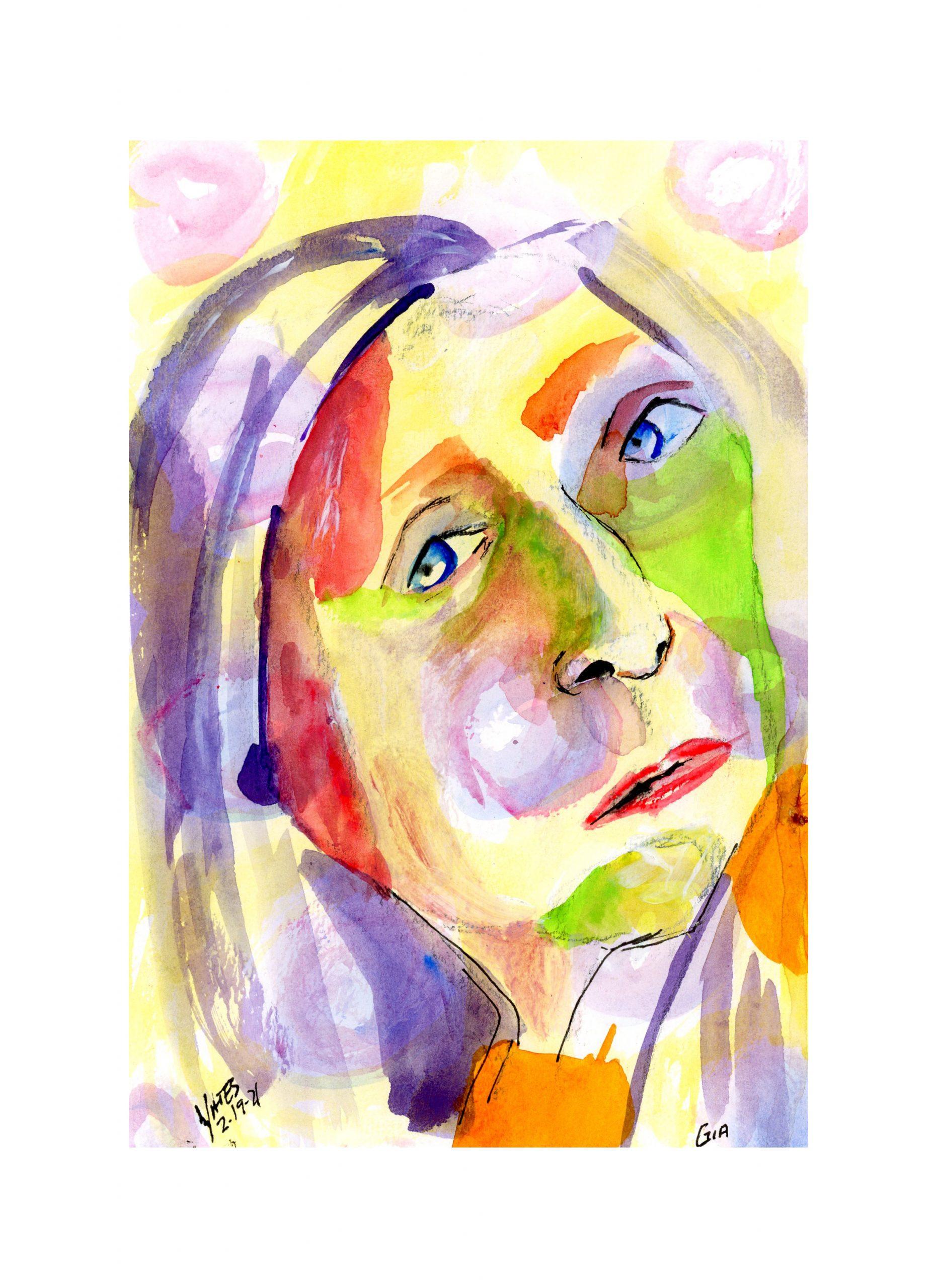 Lucinda Yates 12 Minute Expressionist Zoom Portrait/Gia