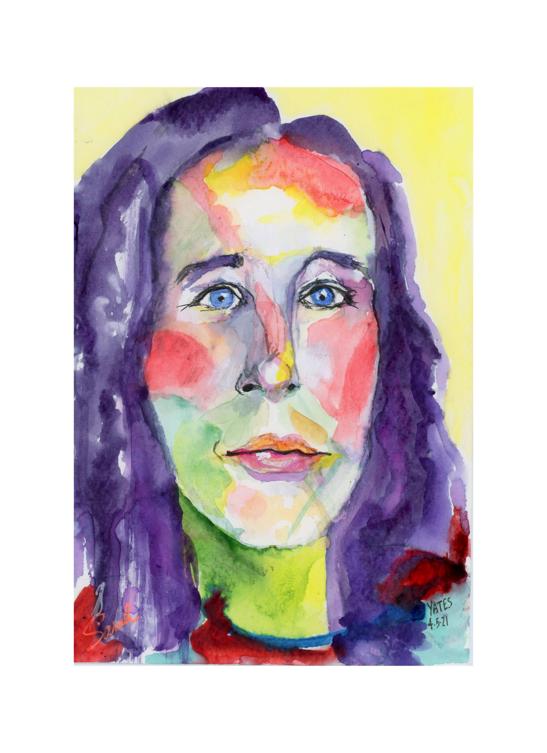 Lucinda Yates 12 Minute Expressionist Zoom Portrait/Sarah